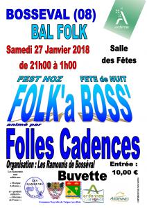 Affiche FolkàBoss 27 janvier 2018