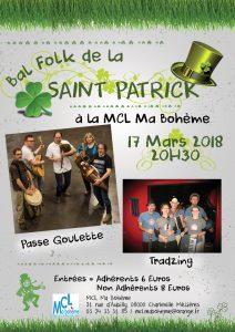 Affiche Saint PATRICK 17 mars 2018 Charleville